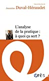 L'analyse de la pratique